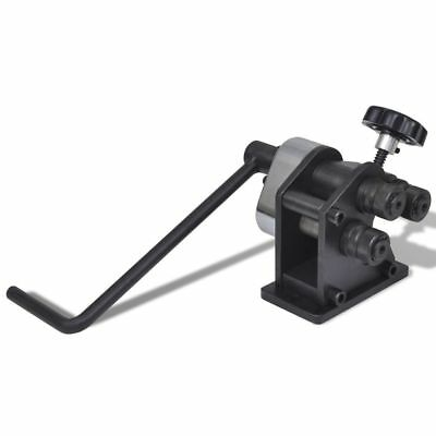 Manual Cast Iron Roll Bending Machine Rolling Bender Tool Solid Metalworking New