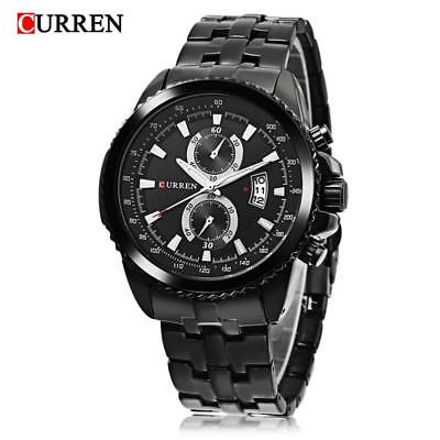 CURREN Fashion Men's Stainless Steel Chronograph Analog Quartz Date Wrist Watch