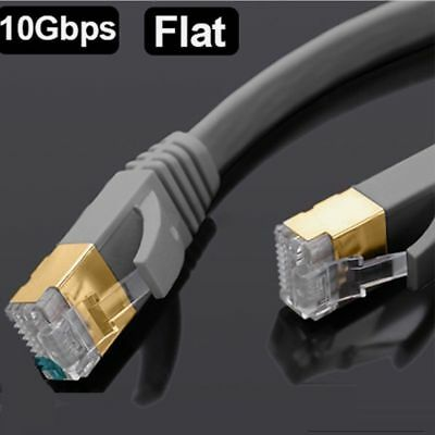RJ45 Cat7 Ethernet Network 10Gbps Gigabit SSTP LAN Gaming 4 Pair Patch Cable LOT