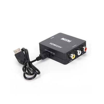 Mini Composite 1080P HDMI to RCA Audio Video CVBS AV Adapter Converter For HD TV