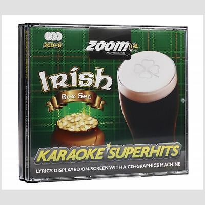 Karaoke Discs Zoom Irish Superhits - 63 Backing Tracks, 3 CDG/CD+G Discs Pack