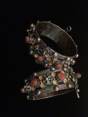 Bijoux Kabyle (Jewelry Kabyle North Afrique) Red Coral Silver