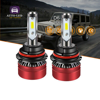 9007 HB5 LED Headlight Bulbs High Low Beam 6500K For Dodge Caravan 1996-2007 2PC