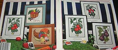 Garden Gourmet Book Cross Stitch Pattern Tomato Bunny Egg Plant Red Pepper Salad