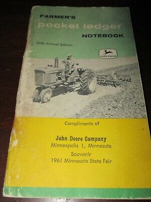 John Deere Farmer's Pocket Ledger Notebook 95th Annual Edition 1961-62