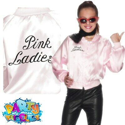 Grease Girls Pink Ladies Jacket 1950s Fancy Dress Costume Outfit Kids Child