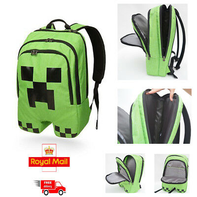 b07949b82e Minecraft Schoolbag School Backpack Rucksack Book Creeper Storage Bag Sports