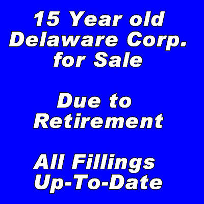 Delaware 15 Years Old Business Corporation Company For Sale