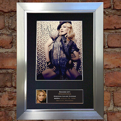 MADONNA Signed Autograph Mounted Photo Reproduction A4 Print 229