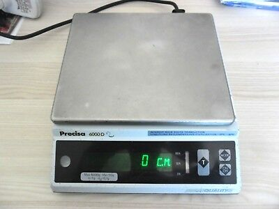 BALANCE PRECISA 6000D- Swiss Quality-Precision scale- Präzisionswaage- Oerlikon-