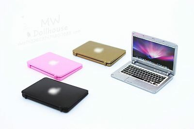 1:6 Scale Mini Laptop Computer Toy Dollhouse Miniature Toy Doll Food Living Room