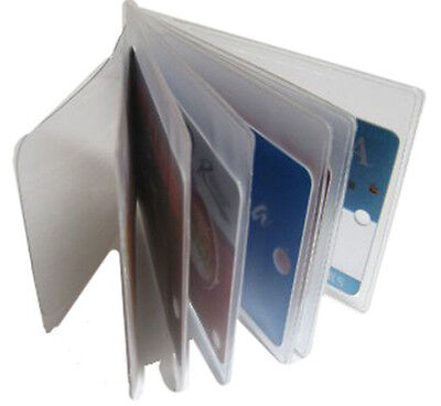 2 Clear Sleeves Plastic 6 page Insert Replacmet Credit Card Holder Bifold