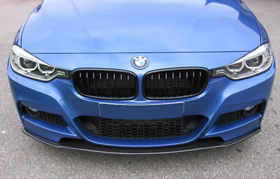 For M Sport BMW F30 F31 Carbon Performance apron spoiler Valance skirt chin
