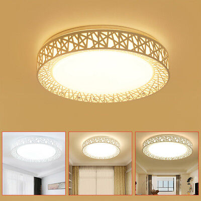 LED Ceiling Light Bird Nest Round Lamp Modern Fixtures For Living Room Bedroom