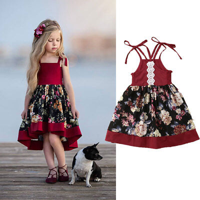 Toddler Kids Baby Girls Summer Outfit Clothes Set Princess Party Pageant Dresses