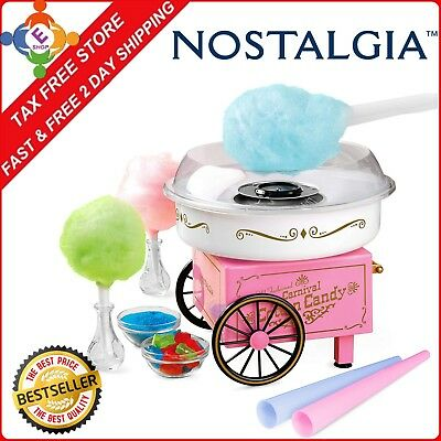 Electric Commercial Cotton Sugar-Free Candy Maker Retro Machine Kit Store