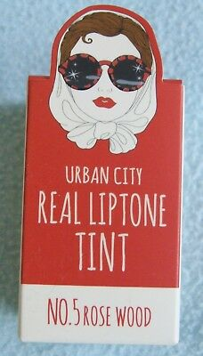 URBAN DOLLKISS Urban City Real Liptone Tint - Shade ROSE WOOD - New & Boxed