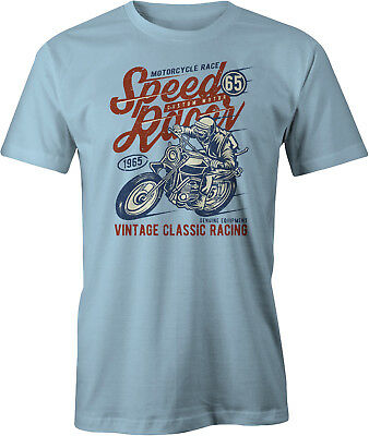 Biker Bike Moto Chopper Rider Moped Rocker Metal Racer Homme T-Shirt