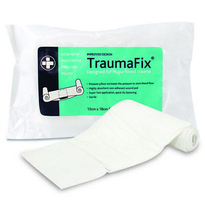 TraumaFix Absorbent Non-Adherent Wound Pad Dressing Bandage with Pressure Pillow
