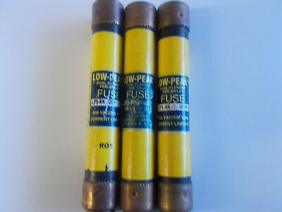 Bussmann LPS-RK-10SP LOW PEAK DUAL-ELEMENT TIME DELAY FUSES LOT OF 3
