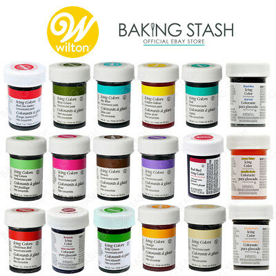 WILTON FOOD COLOURING Paste - Concentrated Food Icing Colour Gel ...