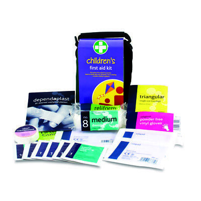 Childrens Kids Home Car Camping Essentials First Aid Travel Kit in Zipped Bag