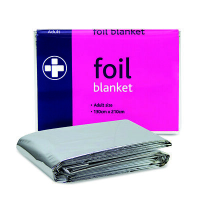 Disposable Foil Thermal Emergency Heat Blanket First Aid Camping Survival