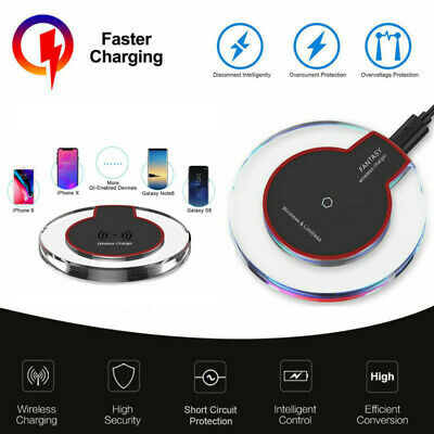Qi Wireless Fast Charger Charging Pad for Samsung Galaxy Note 8 S8 iPhone X 8 US