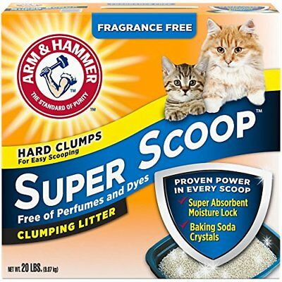 Arm & Hammer Super Scoop Litter Unscented 20 Lbs (pkaging May Vary)