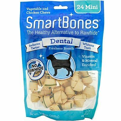 SmartBones Rawhide-Free Dental Dog Chew Vegetable & Chicken Dog Chew