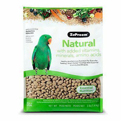 Zupreem Natural Blend Diet for Medium/Large Birds 3-Pound