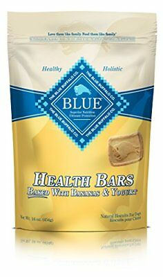 BLUE Health Bars Adult Banana & Yogurt Biscuits Dog Treats 16-oz
