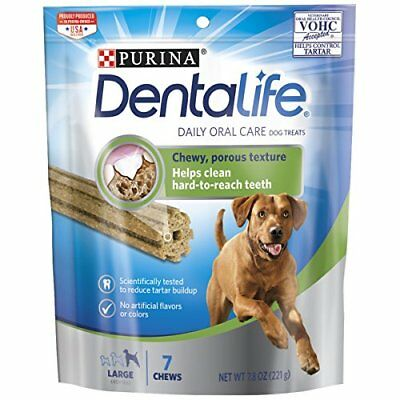 Purina DentaLife Daily Oral Care Large Dog Treats 7.4 oz. Pouch pk of 4