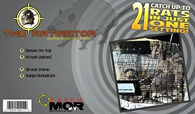 Rugged Ranch RATTR The Ratinator Multiple Catch Live Rat Trap 21 Rats in One