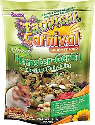 F.M.Brown's Tropical Carnival Natural Hamster-Gerbil Food 2-Pound pkage