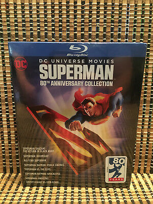 Superman 80th Anniversary Coll (8-Disc Blu-ray, 2018)DC Universe Movies Animated