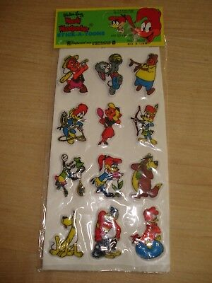 Vintage Imperial Toy Co.-Woody Woodpecker Puffy Stickers-NEW IN PACKAGE