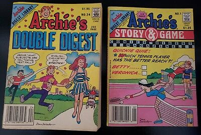 Archie Comics Archie's Story and Game #1 Archies Double Digest #24 Riverdale