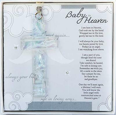 Baby in Heaven Mosaic Glass Cross - Infant Loss, Miscarriage, Infant Memorial