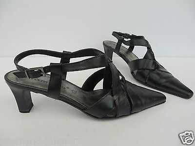 TAMARIS # chice Slingbacks SANDALEN Gr. 38 schwarz Leder Damen Schuhe Pumps TOP