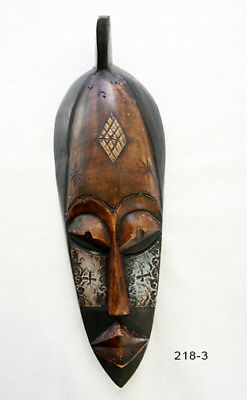 """African Mask Handcrafted in Ghana - Wood Wall Art #318-13 - Approx 18""""H"""