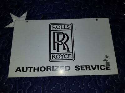 Rolls Royce Authorized Service Metal Dealer Sign - Free Shipping !!!!!!!!!!!!!!!