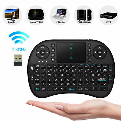Mini Funk Tastatur mit Touchpad kabellos Wireless Keyboard für PC/TV BOX /PS3 RQ