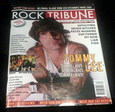 ROCK TRIBUNE with CD, Sepultura, Tommy Lee, Seven Witches, Fates Warning