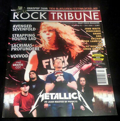 ROCK TRIBUNE with CD, Metallica, Avenged Sevenfold, Strapping Young Lad