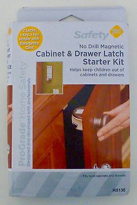 Safety 1st ProGrade* No Drill Magnetic Cabinet & Drawer Latch Starter Kit NEW