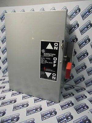 Ge Tc35362 Model 8 60 Amp 600 Volt Double Throw Switch- Ats100