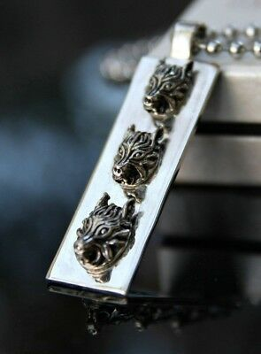 Final Fantasy VII Necklace, FF 7 Wolf Pendant Japan Cloud Strife Game Gift
