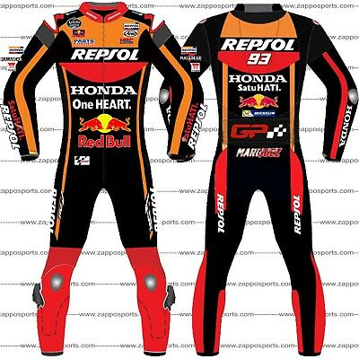 Black Marc marquez 2017 Motogp Leather Racing Suit Available in All Size