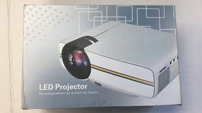 Eccbox LED Pico Video Projector,1200 Lumens Home Projector LCD TFT Display Suppo